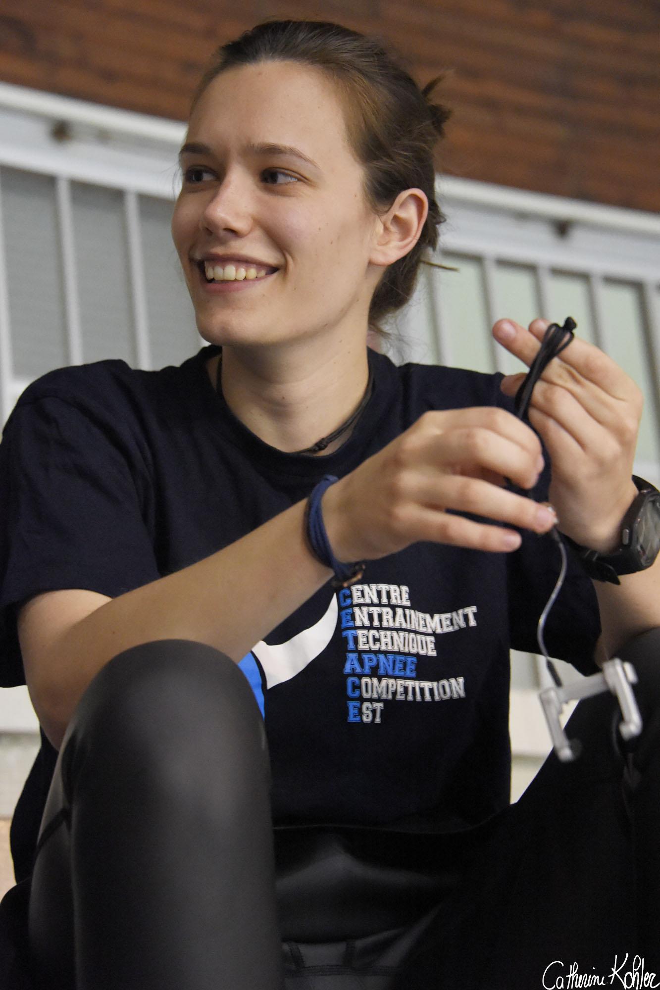 Hélène Gass, vice-championne de France d'apnée
